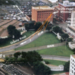 "Texas School Book Depository Building and surrounding area. Stewart Galanor, ""Cover-Up"" (1968), Expanded"